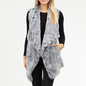 Gray Faux Fur Vest